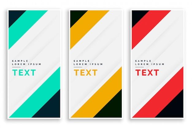 Diseño de conjunto de banners de negocio de vertival