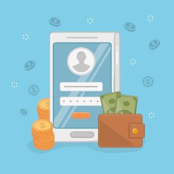 Diseño de conjunto de iconos de pago en línea