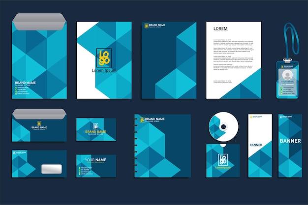 Diseño de conjunto de negocios de identidad corporativa
