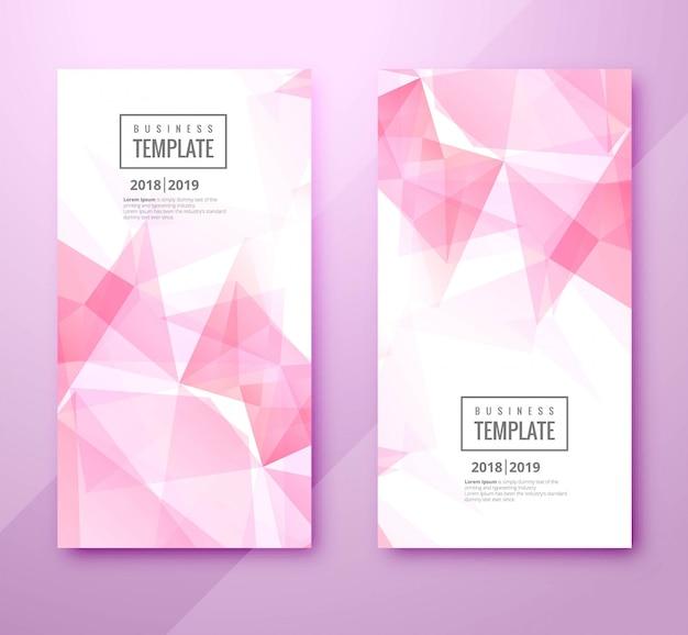 Diseño de conjunto de plantilla de negocio hermoso polígono