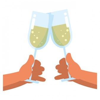 Diseño de copa de champagne