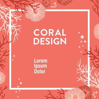 Diseño de coral de moda
