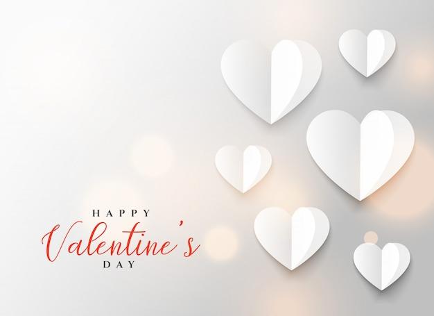 Diseño de corazón de origami para el día de san valentín
