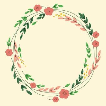 Diseño de corona con flores.