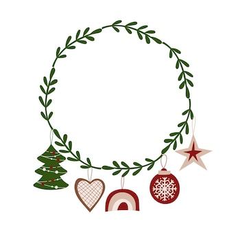 Diseño de corona de navidad. ilustración vectorial.