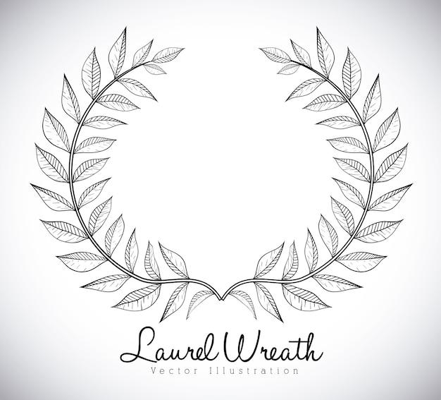 Diseño de corona sobre fondo gris ilustración vectorial