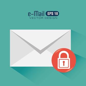 Diseño de correo electrónico, ilustración vectorial