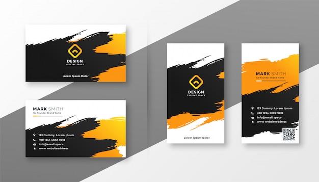 Diseño creativo abstracto de la tarjeta de visita