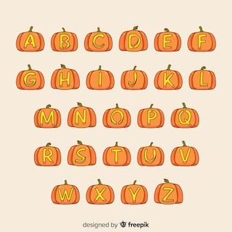 Diseño creativo de alfabeto de halloween