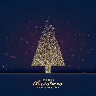 Diseño creativo del árbol de navidad hecho con fondo de brillo