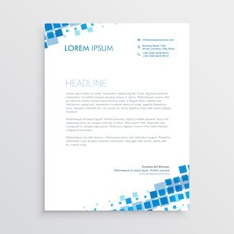 Diseño creativo azul con membrete abstracto