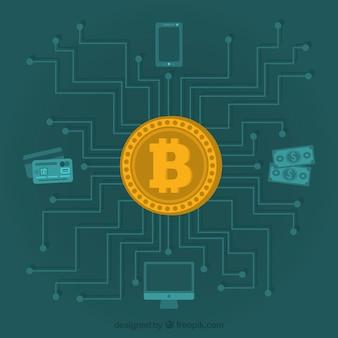 Diseño creativo de bitcoin