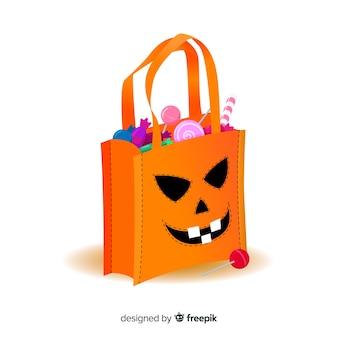 Diseño creativo de bolsa de halloween