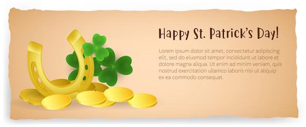 Diseño creativo del cartel del día de san patricio feliz