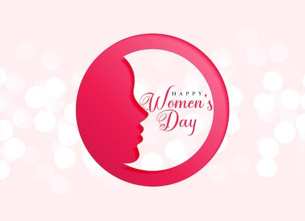 Diseño creativo de celebración del día de la mujer feliz.