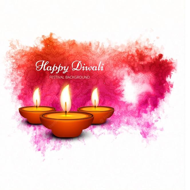 Diseño creativo de acuarela de diwali