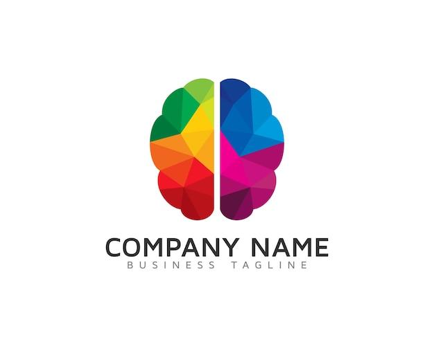 Diseño creativo del logotipo del cerebro