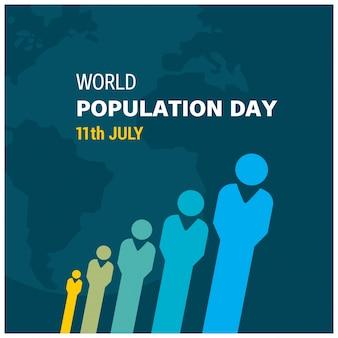 Diseño creativo para el día mundial de la población
