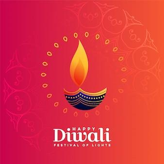 Diseño creativo de diya para el festival diwali.