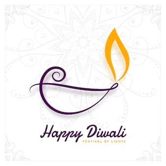 Diseño creativo de diya para el festival de diwali.