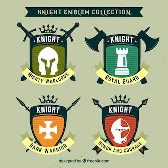 Diseño creativo de emblemas de caballero