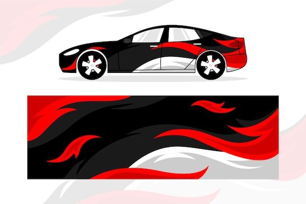 Diseño creativo de envoltura de automóvil