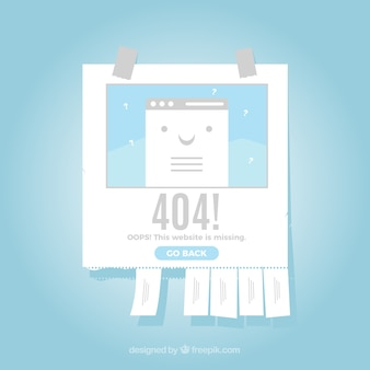 Diseño creativo de error 404