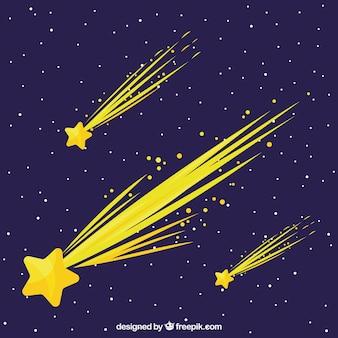 Diseño creativo de fondo de estrellas fugaz