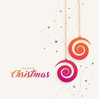 Diseño creativo del fondo de la feliz navidad