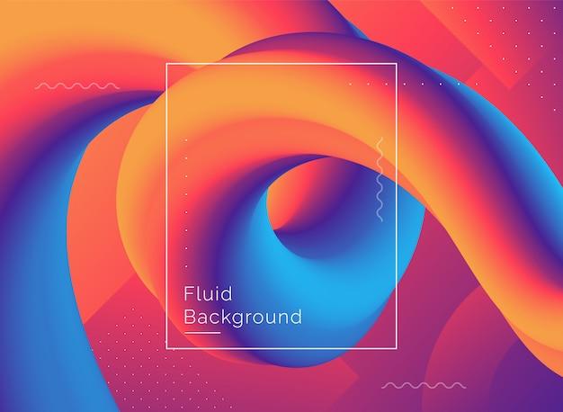 Diseño creativo fondo de forma de flujo 3d