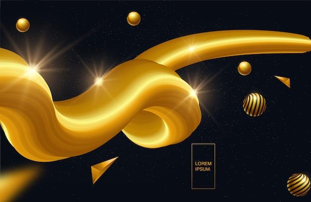 Diseño creativo forma de flujo 3d