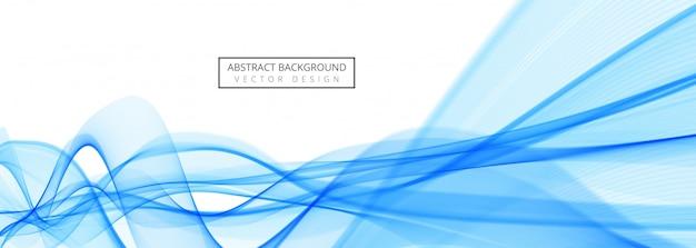Diseño creativo hermoso de la plantilla de la bandera de la onda