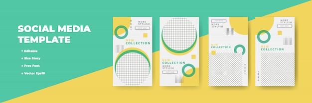 Diseño creativo de historias de redes sociales, banner vertical