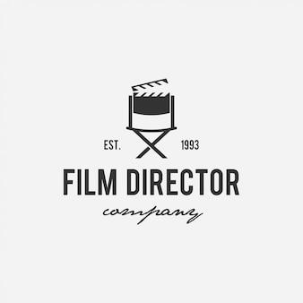Diseño creativo de logotipo de cine, cine, director, compañía de televisión