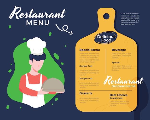 Diseño creativo de menú