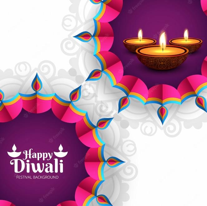 Diseño creativo morado de diwali