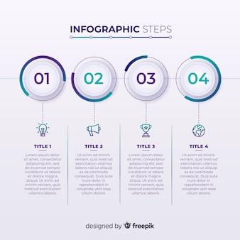 Diseño creativo de pasos infográficos