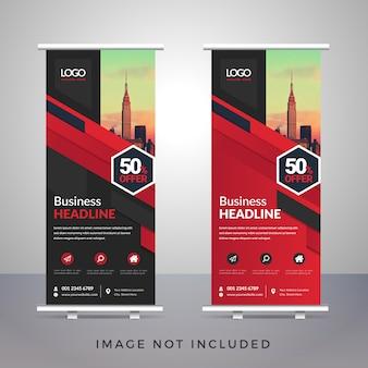 Diseño creativo de plantilla de banner roll-up de negocios