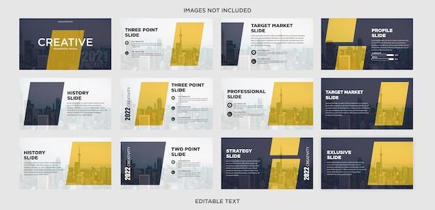 Diseño creativo de presentación de negocios multipropósito