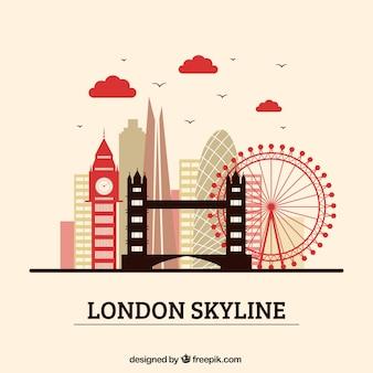 Diseño creativo de la skyline de londres