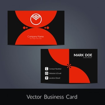 Diseño creativo de tarjeta de visita
