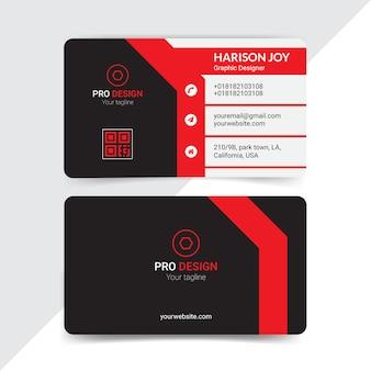 Diseño creativo de tarjetas de visita.