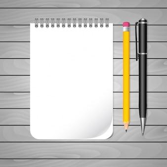 Diseño de cuaderno vacío