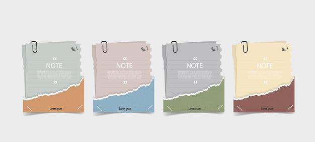 Diseño de cuadro de texto con infografía de papel