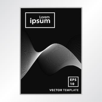 Diseño de cubierta de folleto comercial mínima
