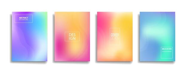 Diseño de cubierta de fondo de patrón de línea abstracta de color degradado brillante.