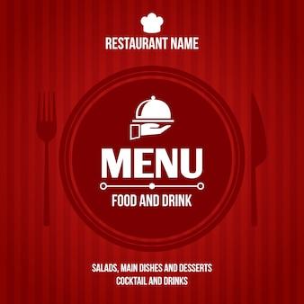 Diseño de la cubierta del menú del restaurante.