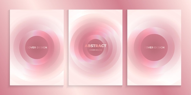 Diseño de cubierta rosa suave con círculos abstractos.