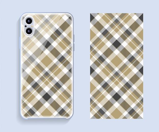 Diseño de la cubierta del teléfono móvil. plantilla de teléfono inteligente caso vector patrón.