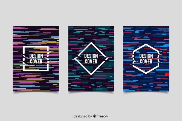 Diseño de cubiertas con efecto de falla de colores.